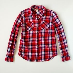 Mossimo Plaid Button Down Long Sleeve XS